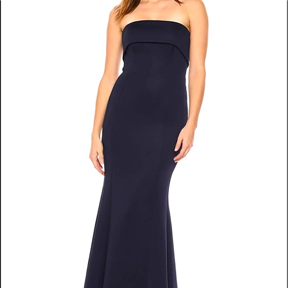 Exporting Soon - Eliza J Strapless Gown (Navy)
